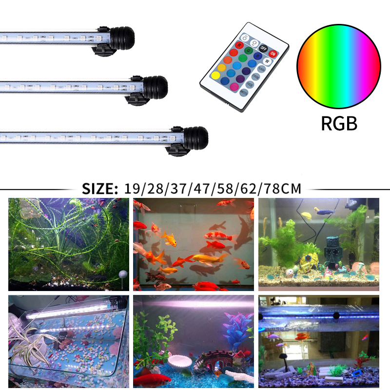 Gako Aquarium Light RGB LED Bar Light Waterproof Light Underwater Aquario Lamp For Fish Tank Coral Reef Decor Lighting