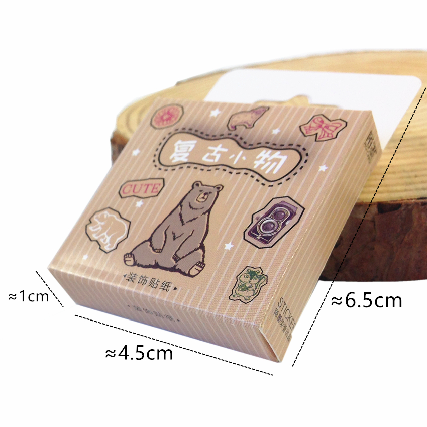 Купить с кэшбэком 45pcs/pack Cartoon Animal Boxed Stickers Children Dairy Sticker And 3D Sticker Multiple Choices For Gifts And DIY Decoration