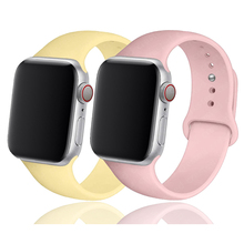 Band For Apple Watch strap 42 mm 44mm 40mm 38mm Rubber belt wristband Sport Silicone bracelet correa iWatch series 5 6 4 3 2 se