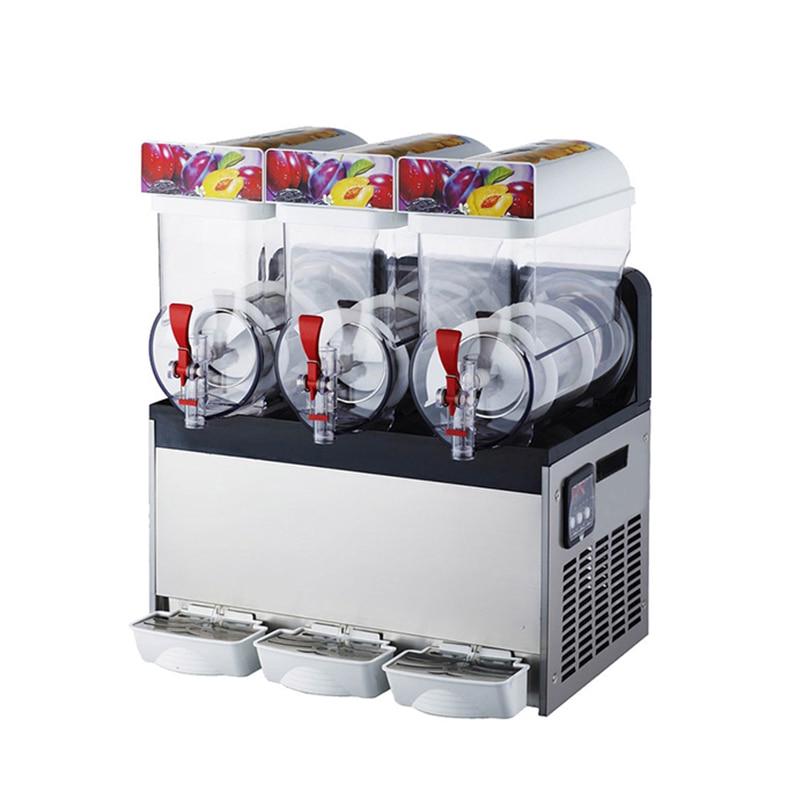 Snow Melting Machine/Three Tank Slush Machine/Cold Drink Maker/Smoothies Granita Machine/Sand Ice Machine 1pc 110v/220v