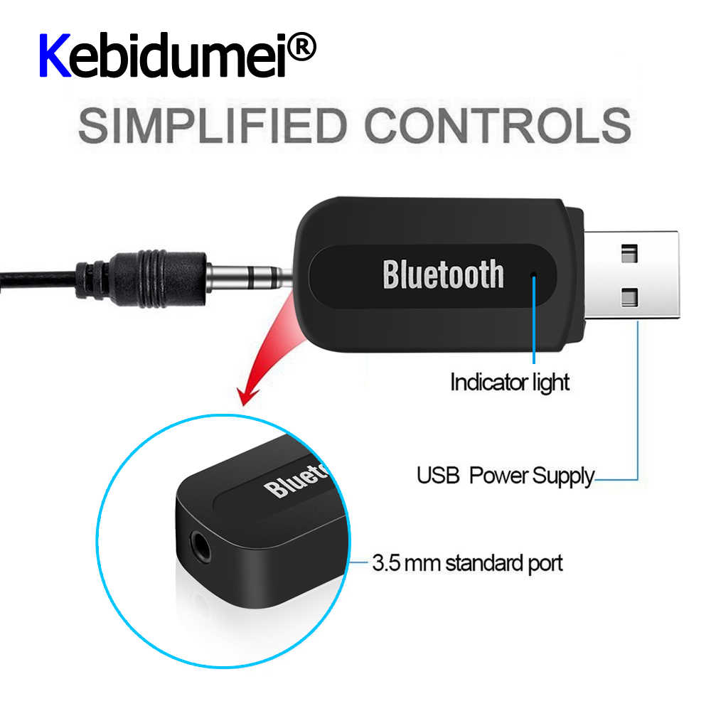 Kebidumei Usb Bluetooth Music Audio Receiver Adapter 3 5mm Stereo Audio To Speaker Sound Box For Apple Iphone For Samsung Sound Box Audio Receiverspeaker Sound Aliexpress