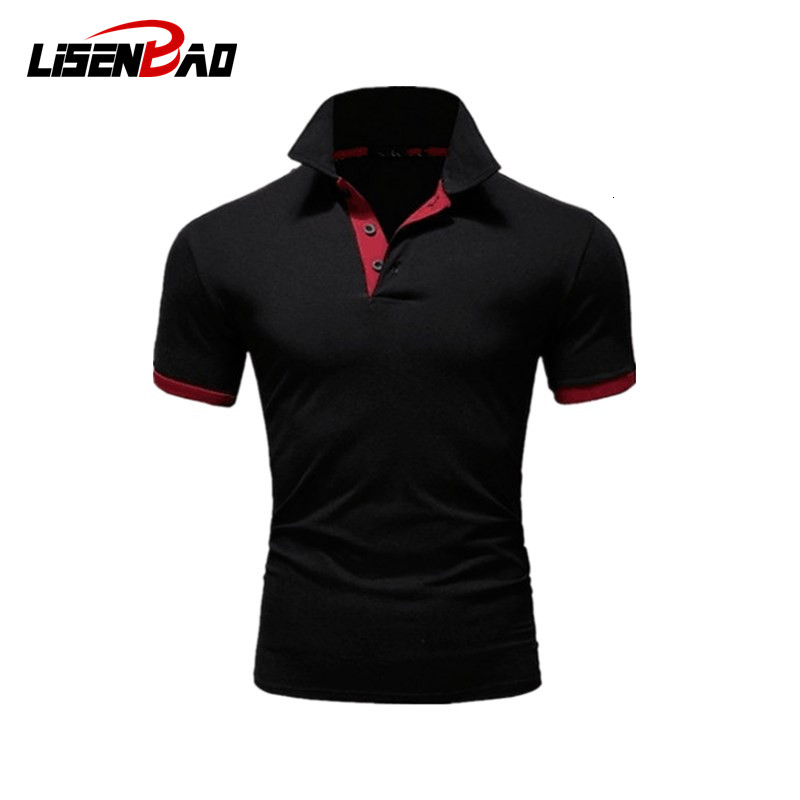2020 Men Tops Summer Short Sleeve Polo Shirt Men Turn-over Collar Casual Slim Breathable Solid Color Business Polo Shirt 5XL 115