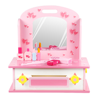 Children's Little Princess Educational Toys Girl Dressing Table Set Play House Wood Simulation Dressing Table 0606