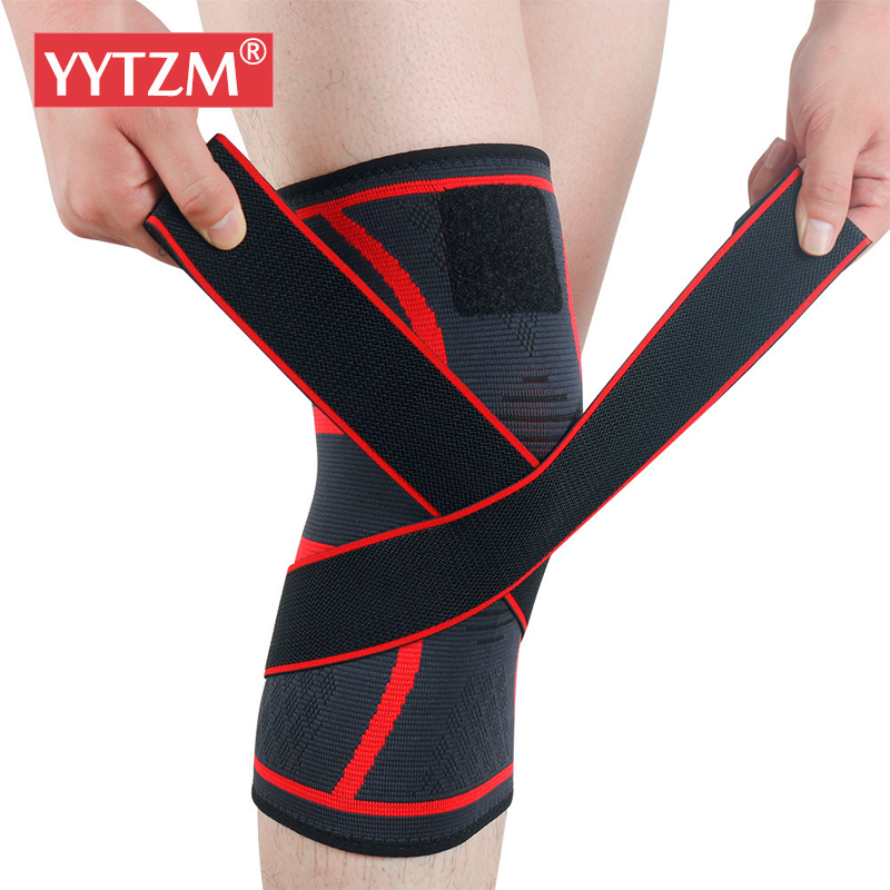 1pc Sports Kneepad Men Pressurized Elastic Bandage Knee Pads