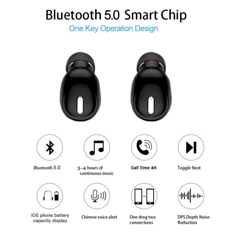 Mini-X9-Wireless-Earbuds-Noise-Reduction-In-ear-Design-Bluetooth-5-0-Earphone-Comfortable-to-Wear(1)