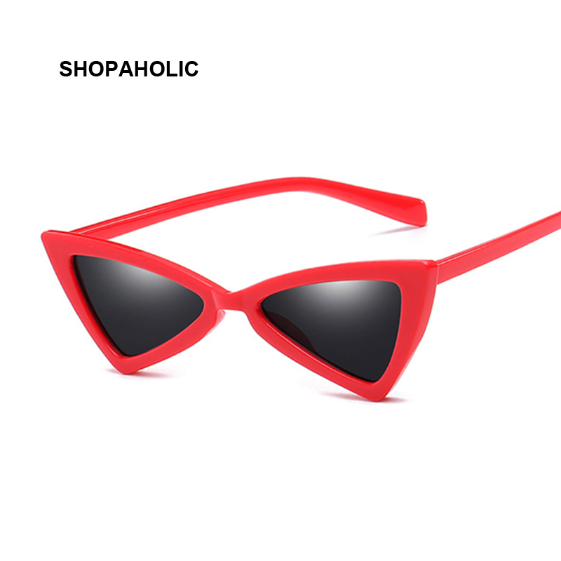 New Red Small Sunglasses Women Vintage Frame Tint Sexy Shiny Lens Cat Eye Sun Glasses Female Shades Uv400