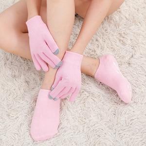Moisturizing Gel Socks Gloves Set Rose Spa Gel Sock Hand Mask Foot Cracked Skin Whitening Skin Care Moisturizing Treatment
