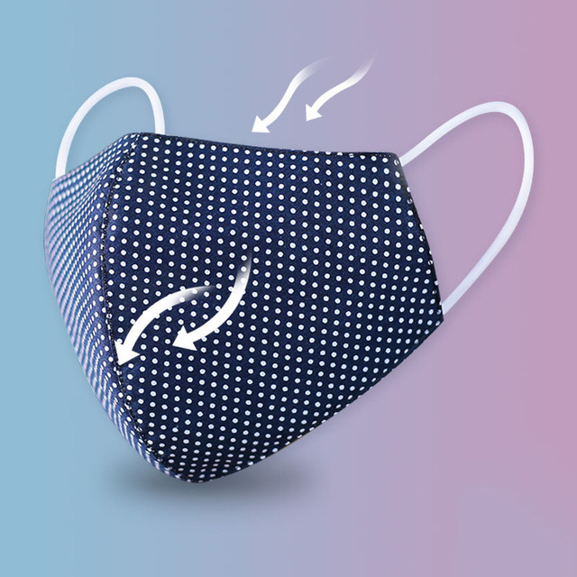 Reusable Face Mask Men Women Mask Unisex Breathable Mouth Masks Print Dot Face Masks Cover Unisex Mouth-muffle High Quality 2