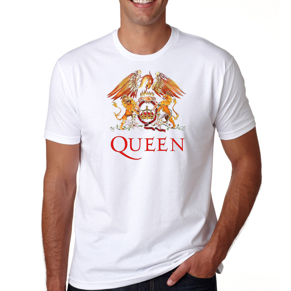 Queen Tee British Hard Rock Band S 3Xl T Shirt Freddie Mercury For Man Hipster O Neck Causal Cool Tops Simple image