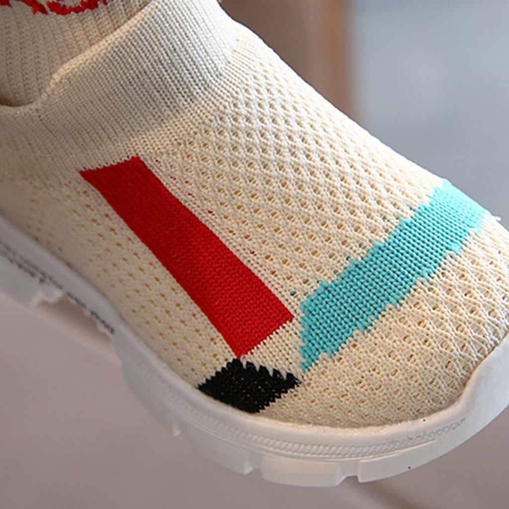 ילדי ילדי נעלי תינוק בנות בני Mixedcolor ספורט נעלי ספורט לילד גרבי מגפי סתיו חורף סרוג מזדמן ילד נעליים