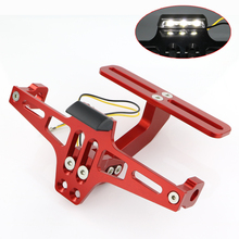 For DUCATI Hypermotard 796 821 939 1100 Multistrada 1200 Scrambler 800 CNC Tail Tidy Fender Eliminator Kit License Plate Holder цены онлайн