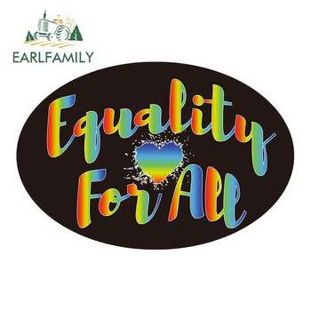 EARLFAMILY 13cm x 8.7cm For Equality Creative Sticker Vinyl Graphic Decal Stickers Custom Printing Car Accessories Fashion image