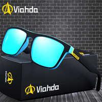 Viahda 2019 marca popular polarizado óculos de sol esporte óculos de pesca de sol masculino