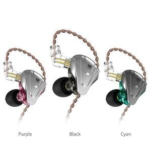 Image 3 - KZ ZSX שליחות קטלנית 5BA + 1DD 12 יחידה היברידי ב אוזן אוזניות HIFI מתכת אוזניות מוסיקה ספורט עבור AS12 AS16 ZSN ZS10 פרו X ZSTX Z1 S1