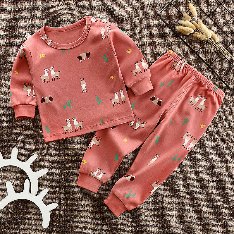 2pcs/Set Baby Girls Sets  Children Autumn Winter Cartoon Fashion Suit Boys Girls Outfits Kids T-shirt Long Sleeve Shirt+pants