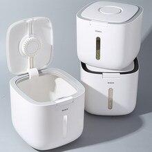 Boîte à riz de stockage de cuisine 10KG, seau Nano, anti-insectes, cylindre de riz scellé étanche à l'humidité, Grain de riz pour chien, organisateur domestique