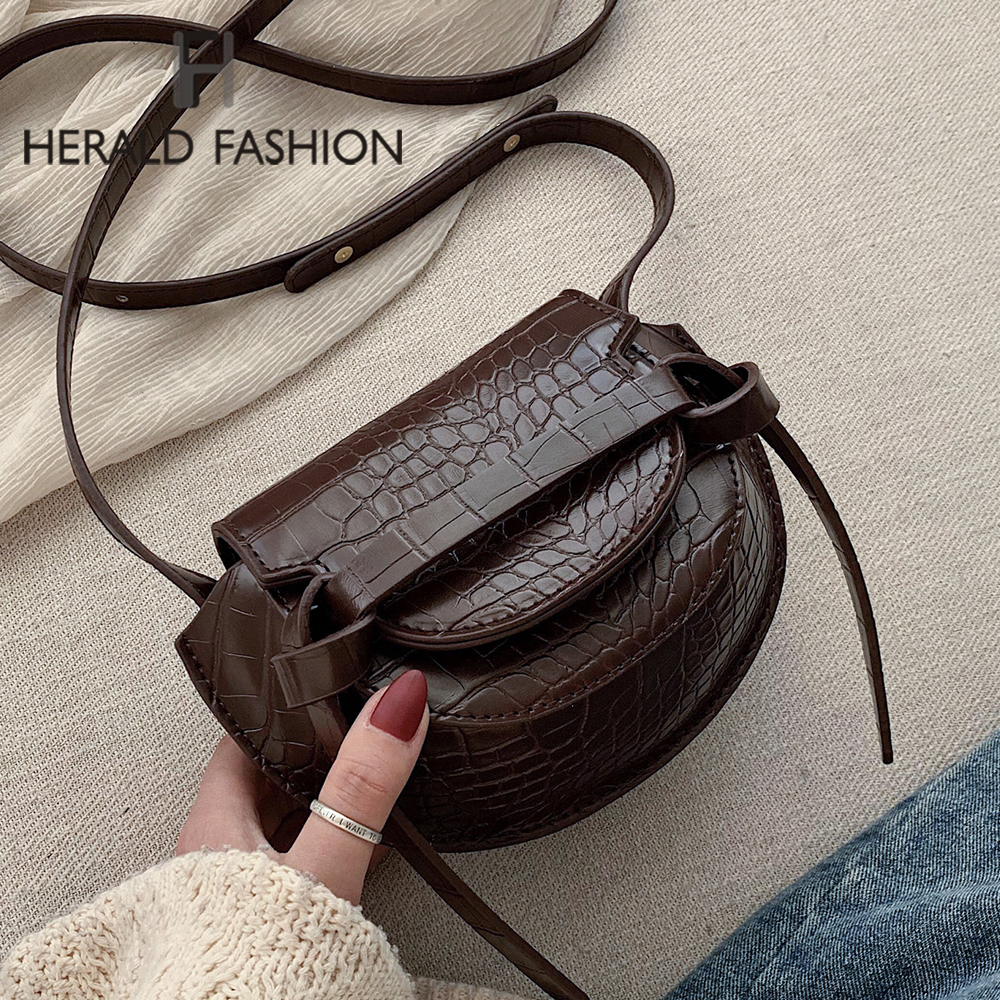 Women's Designer Luxury Handbag 2020 New PU Leather Crocodile Pattern Shoulder Messenger Bag Retro Women Handbags Crossbody Bags