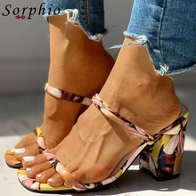 Sorphio Sexy Girl Mixed Color Slippers High Heels Summer Slippers Women Outdoor Beach Casual Slip On Shoes Woman new 2017 summer fashion sexy girl golden leaf rhinestone slippers high heels sandals women slip on woman casual shoes