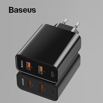Baseus 3 Ports USB PD Charger 60W For iPhone 11 Pro Xs Max XR Fast Phone Charger Quick Charge 4.0 3.0 FCP SCP For Xiaomi Huawei 1