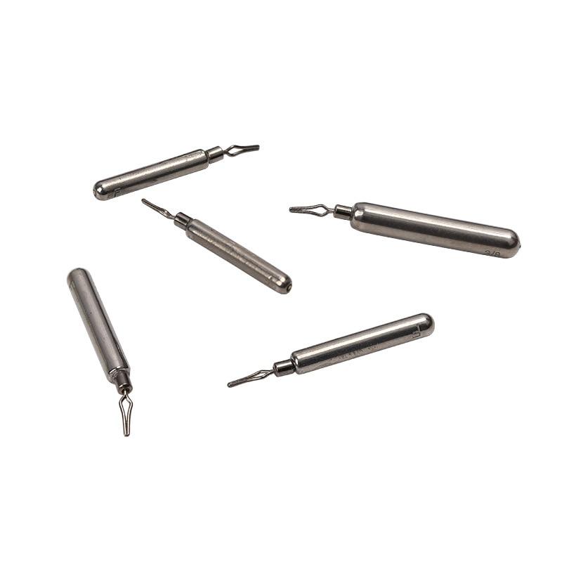 Trulinoya Long Strip Tungsten Steel Pendant Drop Shotting Lead Pendant High Proportion Tungsten Steel Lure Athletic Fishing Gear