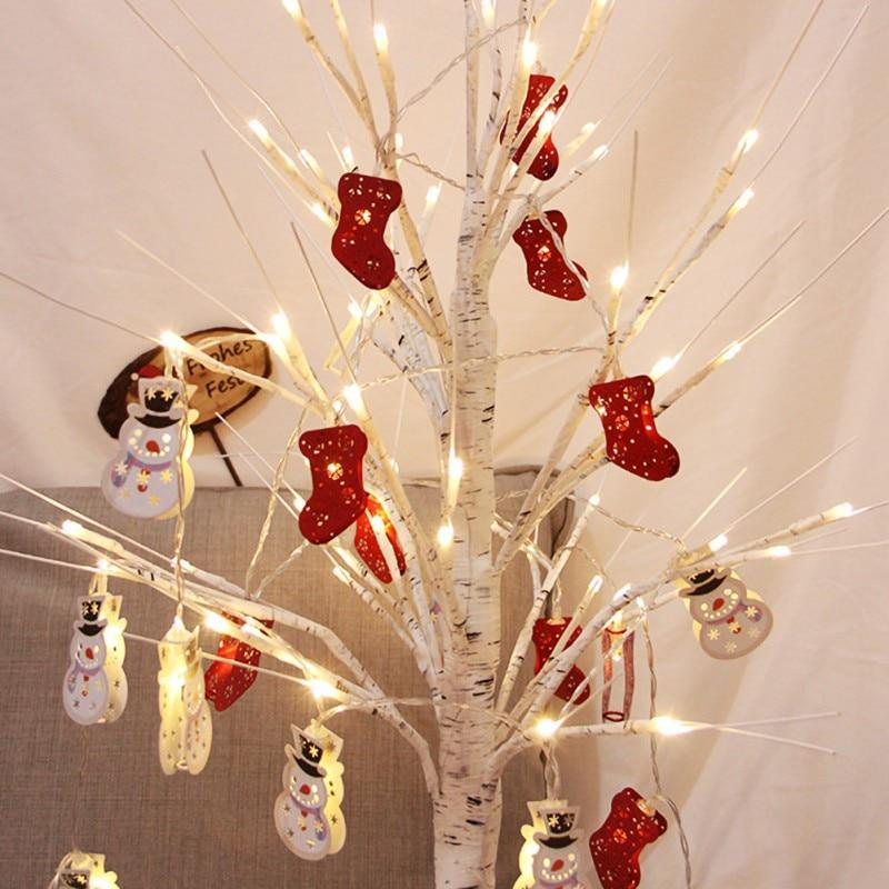 Snowman Elk Garland Holiday Light String Merry Christmas Decor For Home Christmas Ornament Navidad Natal New Year