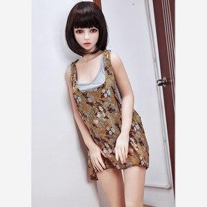 Image 1 - 145cm 207 # couleur chair peau de haute qualité belle sexy femme sexe robot complet TPE avec métal squelette sexe poupée hommes sex toy