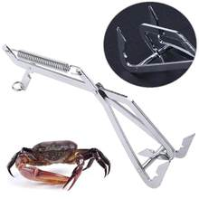 1pc Stainless Steel Crab Grabber Grabbing Tool Clamp Pike Trap Fishing Tackle Tools Catch Crab Accessories Outdoor Tools New(China)