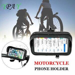 Image 3 - Водонепроницаемый мобильный телефон для велосипеда и мотоцикла, держатель для сумки, велосипедный чехол на руль заднего вида, крепление для телефона с GPS для iPhone 8P XS