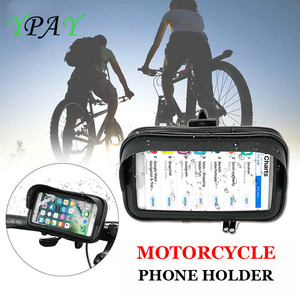 Image 3 - Waterproof Bicycle Motorcycle Mobile Phone Bag Holder Cycling rearview Handlebar Case phone Support GPS Mount For iPhone 8P XS