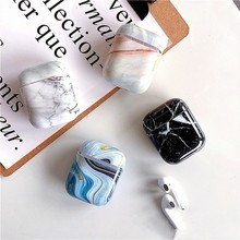 Marble Earphone Case For Apple Airpods Agate Hard Headphone Accessories for Airpods Case Wireless Charging Box Protective Cover цена и фото