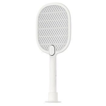 1PC LED Fly Swatter elektroniczny Swatter USB ładowania potrójna warstwa Mosquito Pest Control z baterią do domu dormitorium na zewnątrz tanie i dobre opinie 110-240 v 3-warstwowa 3000 V 7667338 W 2 Godzin 49 6cm Elektryczne 21 6cm Kabel usb do ładowania