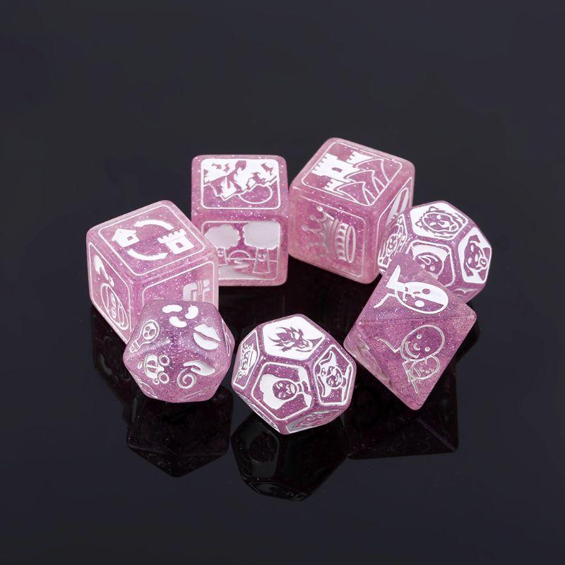 7 шт./компл. история кубики для истории время многогранные игра в кости говорит вечерние Мульти Лица акриловые кости игрушек для детей насто...