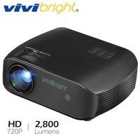 Projecteur LED VIVIBright F10  Android 7.1  WIFI Bluetooth  MINI projecteur le plus récent  prise en charge Full HD 3D  2800 Lumens  TV Laser HDMI Vidéoprojecteur     -