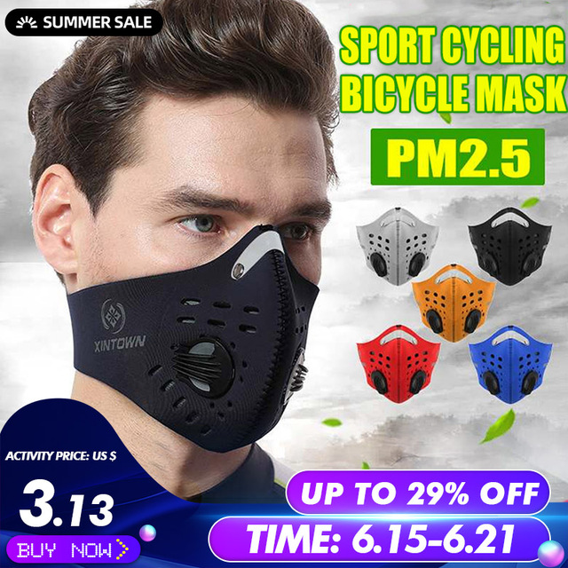 10Pcs Face Mask Half Air Pollution Filter Sport Cycling Bicycle Bike In Stock Fast shipping
