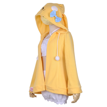 VEVEFHUANG Pajamas Game Azur Lane Teruzuki Cosplay Costume Lovely Cute Yellow Nightdress Sleepwear halloween costumes for women 2
