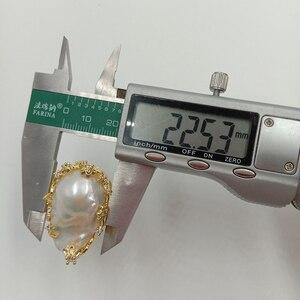 Image 5 - 100% Natuur Zoetwater Parel Ring, Grote Barokke Parel Ring. 20X30 Mm Parel
