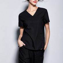 Clinic-Uniforms-Set Dental Short-Sleeve Long-Pant-Set Beauty Salon Pet-Shop Workingwear
