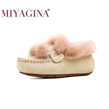 Flats Moccasins Footwear Loafers Driving Women Shoes Female Leisure Genuine-Leather Soft