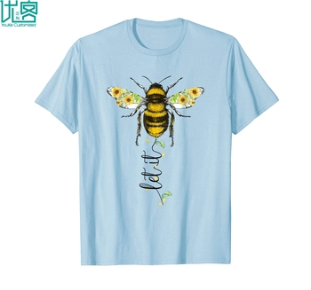 Let It Be Bee Hippie Flower Zone T Shirt For Men Women Amazing Short Sleeve Unique Casual Tees 100% Cotton Clothes T Shirt