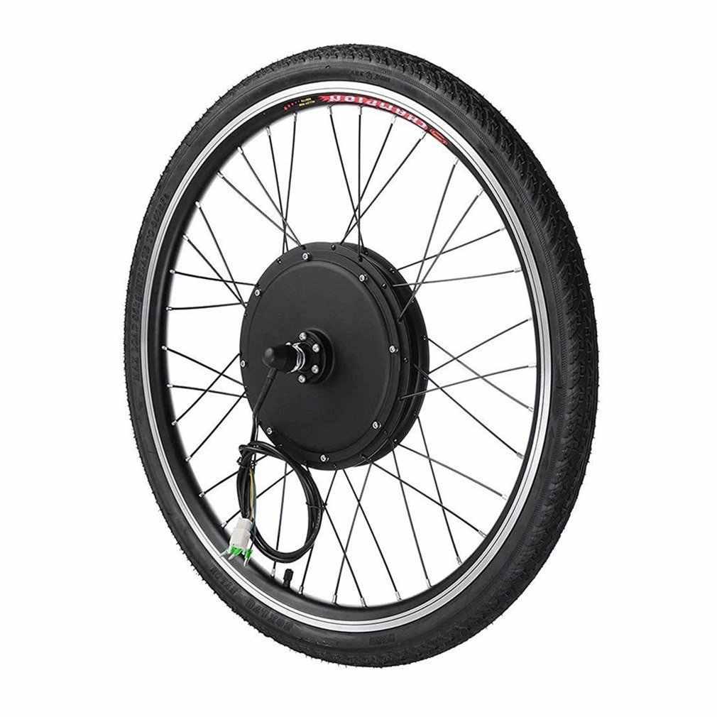 """ใหม่ RU 48V 1000W ไฟฟ้าจักรยาน E ชุด 26 """"ล้อหน้ามอเตอร์จักรยานอลูมิเนียมชุดเครื่องมือ Crank Speed SENSOR"""