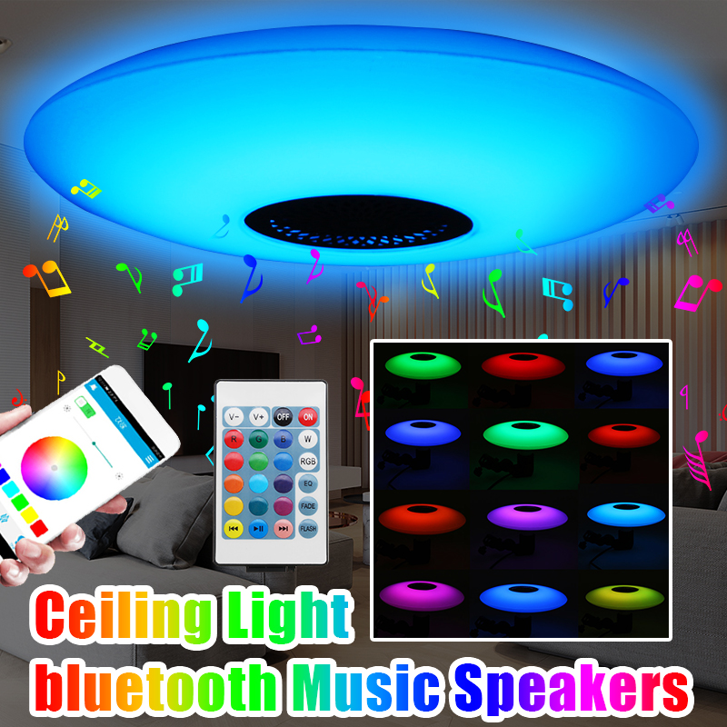 Smart 30W RGB LED Ceiling Light Modern Lamp Living Room Bedroom  APP Bluetooth Music Light Fixture Surface Mount Remote Control