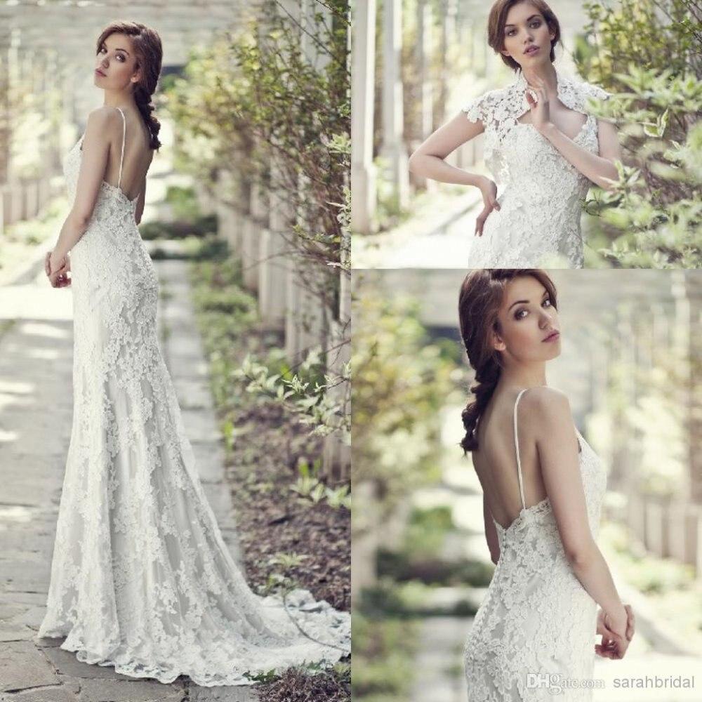Free Shipping Vestido De Noiva Casamento 2020 Fashionable Romantic Hot Sexy Backless Long Lace Wedding Dress With Jacket