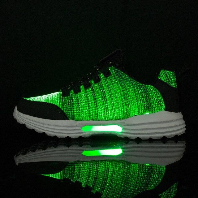 KRIATIV New Fiber Optic Luminous Sneakers for Boy&girls Led Shoes for Adult&kids Women Sneaker Children Trainers Light Up Gift 1