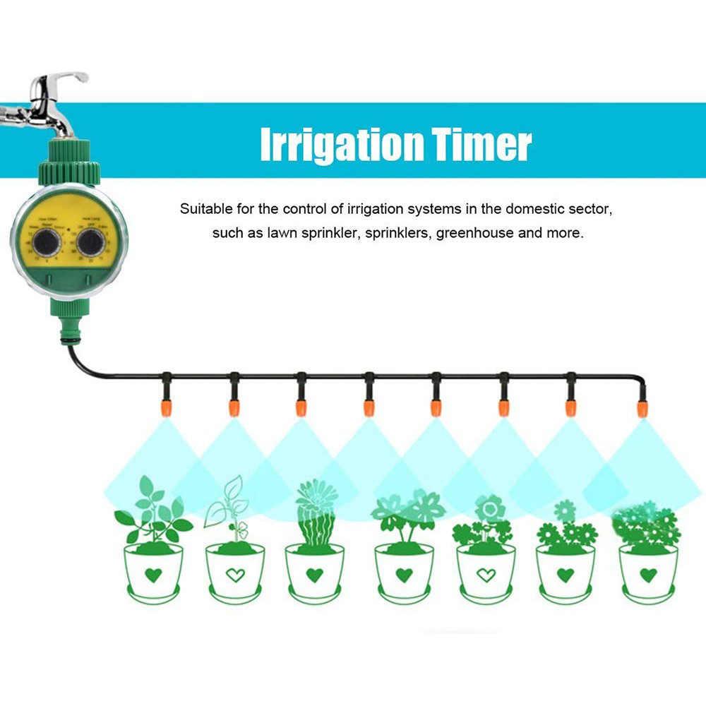 Controlador de riego electrónico automático de jardín multifunción con válvula de temporizador de agua de plástico de dos Dial análogo