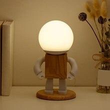 Робот деревянные настольные лампы Регулируемый креативный Настольный