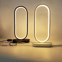 1Pc Nordic Tragbare LED Dimmbare Tisch Lampe Hause Schlafzimmer Nacht Oval Touch Nachtlicht