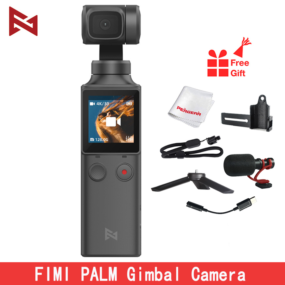 In Stock FIMI PALM Handheld Gimbal Camera Stabilizer 3-Axis 4K HD 128 Degree Wide Angle For Vlog Smartphone