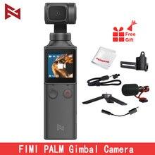 Stokta FIMI PALM el Gimbal kamera sabitleyici 3 Axis 4K HD 128 derece geniş açı Vlog akıllı telefon