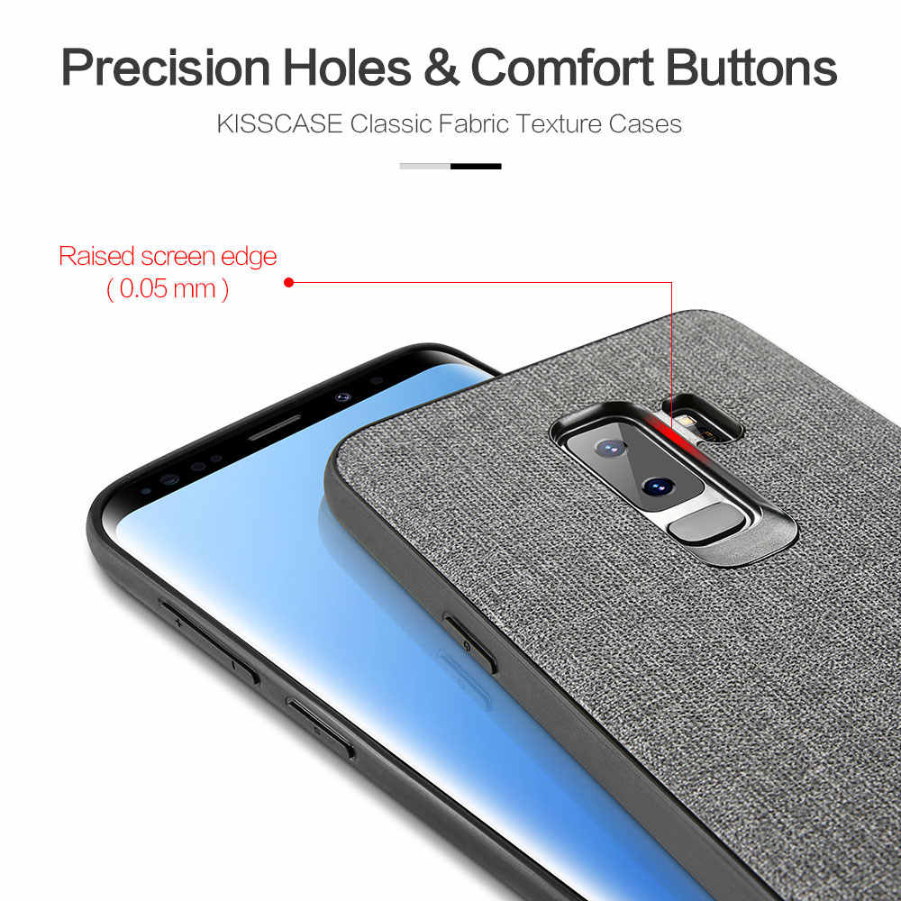 KISSCASE جلدية جراب هاتف لسامسونج غالاكسي S10 زائد S8 S9 لينة سيليكون اغلفة السامسونج غالاكسي s8 s10 نوت 10 10 زائد