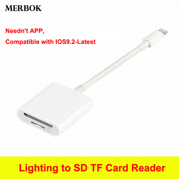 Lightning to SD TF Card Reader Digital camera Kit Compatible OTG Data Connect Cable For Apple iPhone iPad Mini / Pro Air iOS12